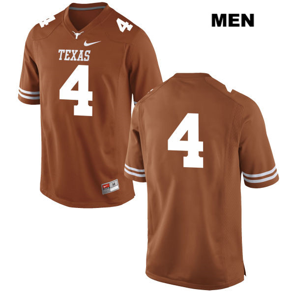 Anthony Cook Texas Longhorns no. 4 Stitched Nike Mens Orange Authentic College Football Jersey - No Name - Anthony Cook Jersey