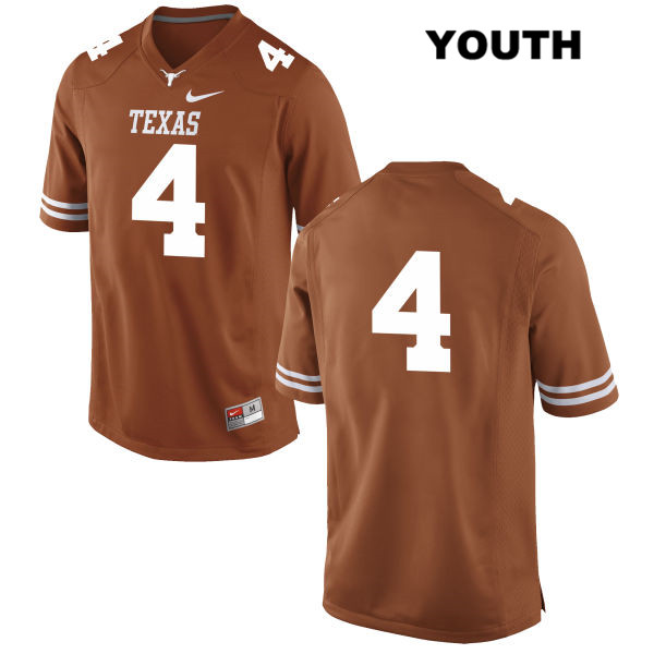 Anthony Cook Texas Longhorns no. 4 Nike Youth Orange Stitched Authentic College Football Jersey - No Name - Anthony Cook Jersey