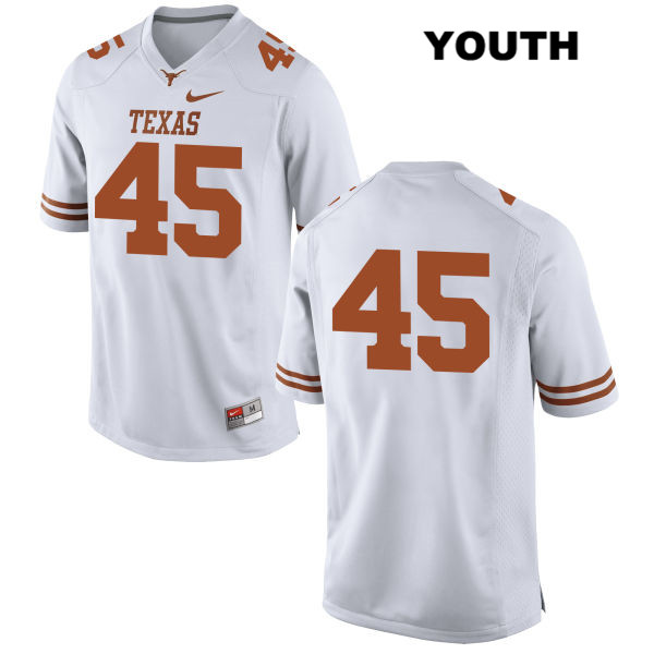 Anthony Wheeler Texas Longhorns Stitched no. 45 Nike Youth White Authentic College Football Jersey - No Name - Anthony Wheeler Jersey
