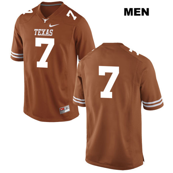 Stitched Antwuan Davis Texas Longhorns no. 7 Nike Mens Orange Authentic College Football Jersey - No Name - Antwuan Davis Jersey