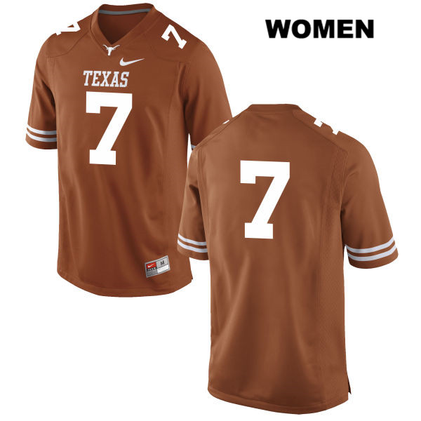 Antwuan Davis Stitched Texas Longhorns no. 7 Womens Orange Nike Authentic College Football Jersey - No Name - Antwuan Davis Jersey