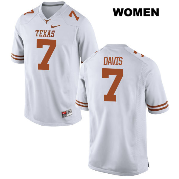 Antwuan Davis Texas Longhorns no. 7 Nike Womens Stitched White Authentic College Football Jersey - Antwuan Davis Jersey