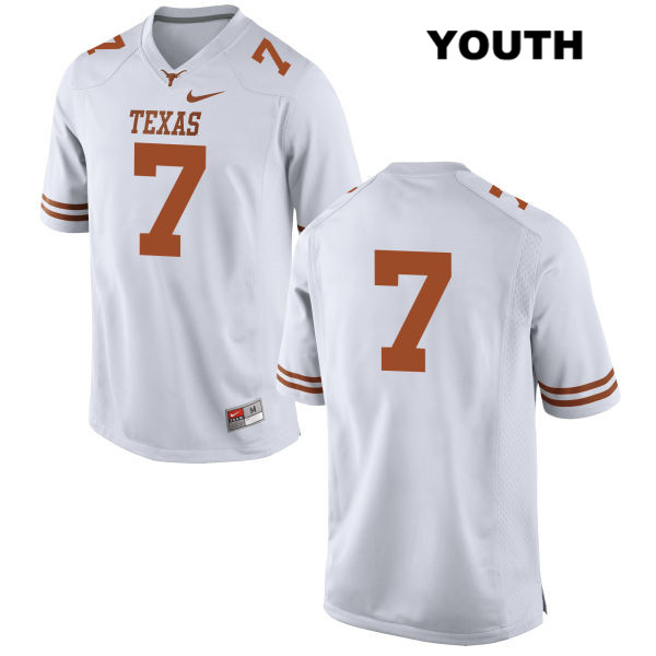 Stitched Antwuan Davis Texas Longhorns no. 7 Youth White Nike Authentic College Football Jersey - No Name - Antwuan Davis Jersey