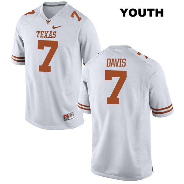 Antwuan Davis Texas Longhorns Nike no. 7 Youth White Stitched Authentic College Football Jersey - Antwuan Davis Jersey