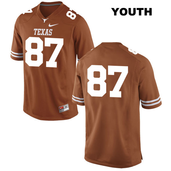 Austin Hibbetts Nike Texas Longhorns no. 87 Stitched Youth Orange Authentic College Football Jersey - No Name - Austin Hibbetts Jersey
