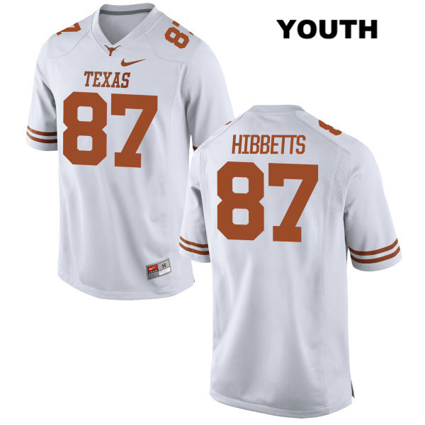 Austin Hibbetts Texas Longhorns Stitched no. 87 Youth Nike White Authentic College Football Jersey - Austin Hibbetts Jersey