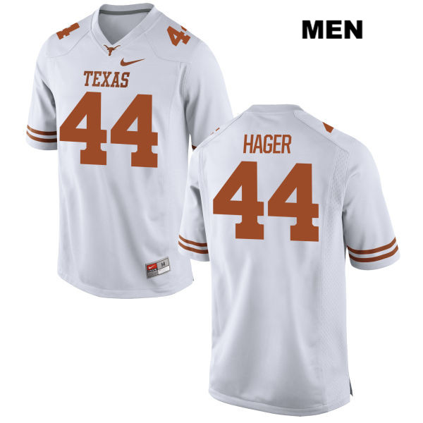 Breckyn Hager Stitched Texas Longhorns no. 44 Nike Mens White Authentic College Football Jersey - Breckyn Hager Jersey