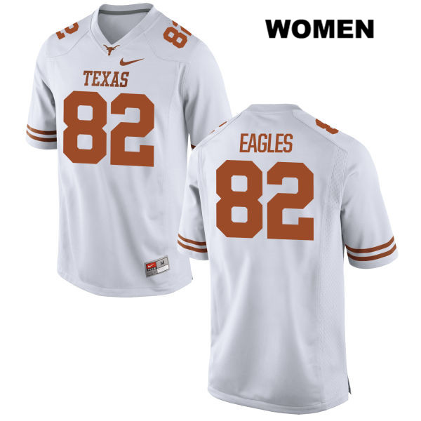 Brennan Eagles Texas Longhorns Stitched no. 82 Womens Nike White Authentic College Football Jersey - Brennan Eagles Jersey