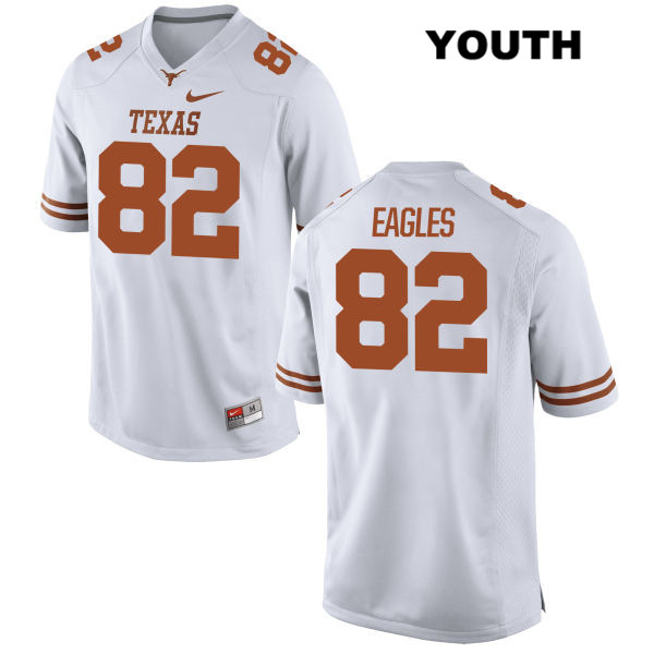 Brennan Eagles Nike Texas Longhorns Stitched no. 82 Youth White Authentic College Football Jersey - Brennan Eagles Jersey