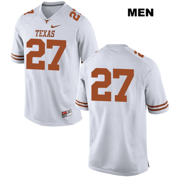 Connor Huffman Texas Longhorns no. 27 Stitched Mens White Nike Authentic College Football Jersey - No Name - Connor Huffman Jersey