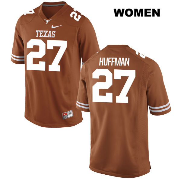 Connor Huffman Texas Longhorns Nike no. 27 Womens Orange Stitched Authentic College Football Jersey - Connor Huffman Jersey