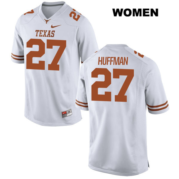 Connor Huffman Texas Longhorns Nike no. 27 Stitched Womens White Authentic College Football Jersey - Connor Huffman Jersey