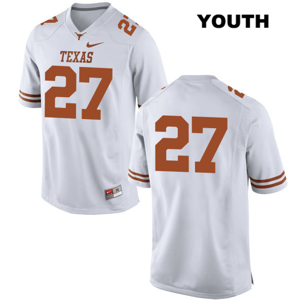 Stitched Connor Huffman Texas Longhorns no. 27 Youth Nike White Authentic College Football Jersey - No Name - Connor Huffman Jersey