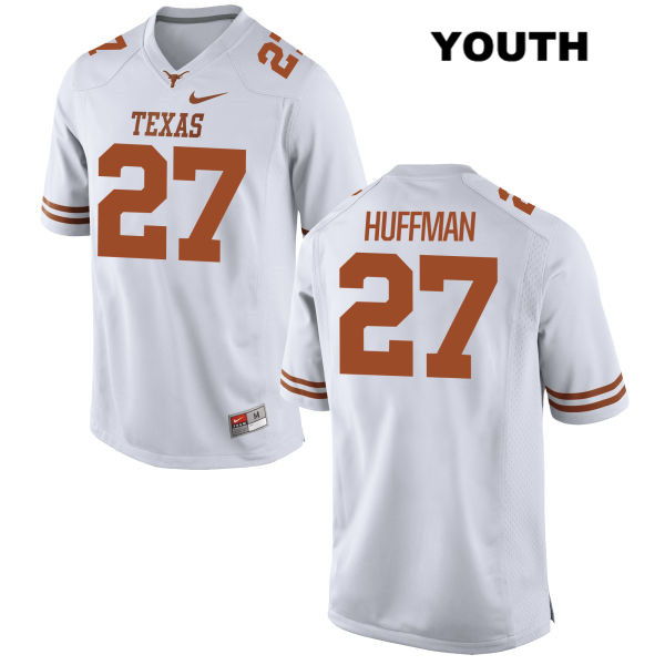 Connor Huffman Stitched Texas Longhorns no. 27 Nike Youth White Authentic College Football Jersey - Connor Huffman Jersey