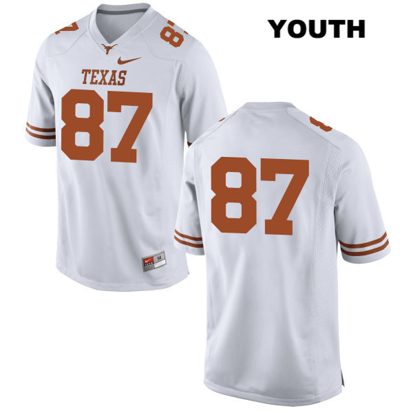 David Gonzalez Nike Texas Longhorns no. 87 Youth White Stitched Authentic College Football Jersey - No Name - David Gonzalez Jersey