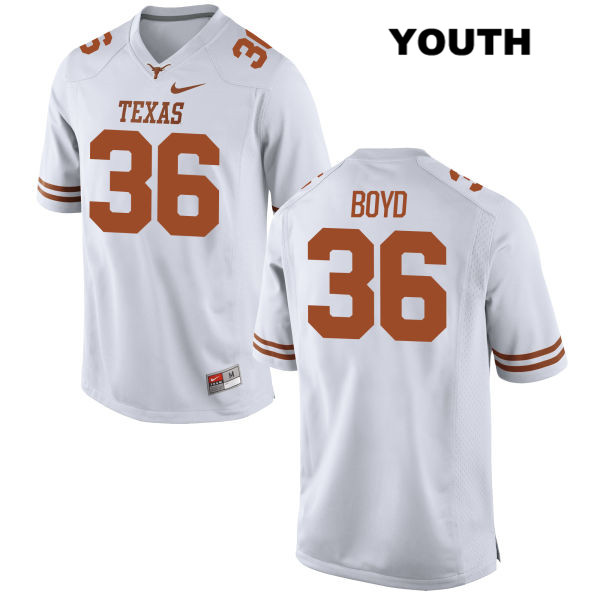 Demarco Boyd Texas Longhorns Stitched no. 36 Youth Nike White Authentic College Football Jersey - Demarco Boyd Jersey