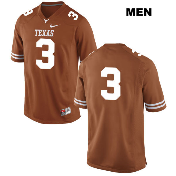 Jalen Green Nike Texas Longhorns Stitched no. 3 Mens Orange Authentic College Football Jersey - No Name - Jalen Green Jersey