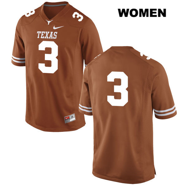 Jalen Green Texas Longhorns no. 3 Nike Womens Stitched Orange Authentic College Football Jersey - No Name - Jalen Green Jersey