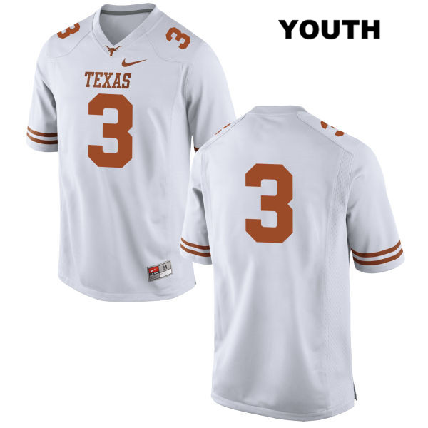 Jalen Green Texas Longhorns no. 3 Nike Youth White Stitched Authentic College Football Jersey - No Name - Jalen Green Jersey