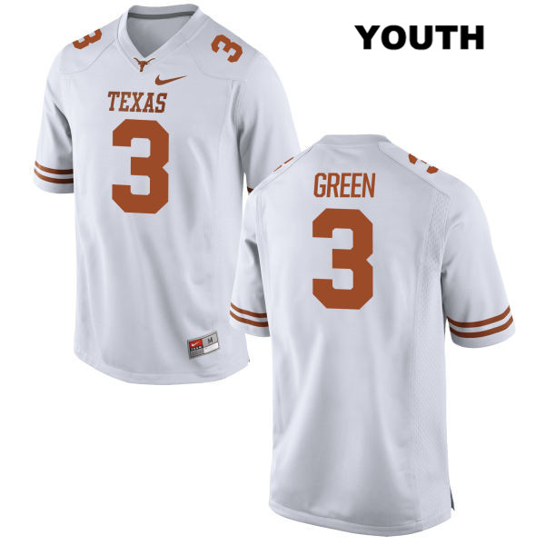 Jalen Green Texas Longhorns no. 3 Youth Stitched White Nike Authentic College Football Jersey - Jalen Green Jersey
