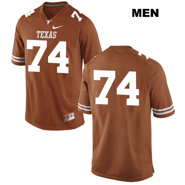 Jean Delance Nike Texas Longhorns no. 74 Mens Orange Stitched Authentic College Football Jersey - No Name - Jean Delance Jersey