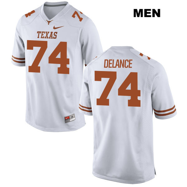 Stitched Jean Delance Nike Texas Longhorns no. 74 Mens White Authentic College Football Jersey - Jean Delance Jersey