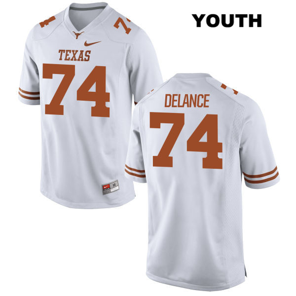 Jean Delance Texas Longhorns no. 74 Nike Stitched Youth White Authentic College Football Jersey - Jean Delance Jersey