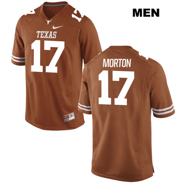 Jimmy Morton Nike Texas Longhorns no. 17 Mens Orange Stitched Authentic College Football Jersey - Jimmy Morton Jersey