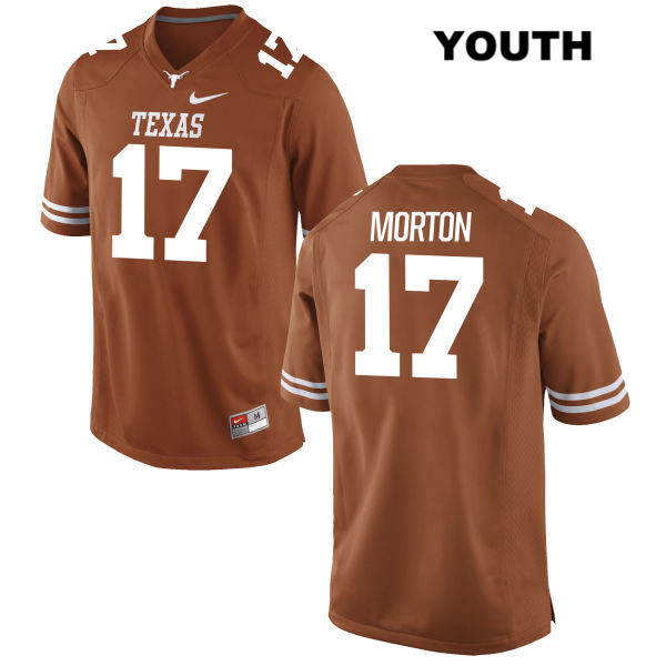 Jimmy Morton Nike Stitched Texas Longhorns no. 17 Youth Orange Authentic College Football Jersey - Jimmy Morton Jersey