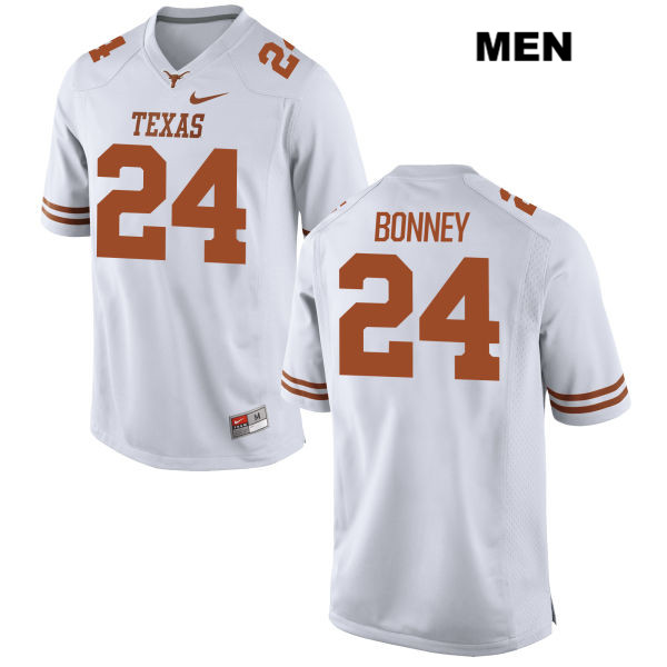 John Bonney Texas Longhorns no. 24 Mens Stitched White Nike Authentic College Football Jersey - John Bonney Jersey