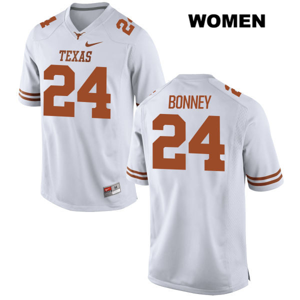 Stitched John Bonney Texas Longhorns no. 24 Nike Womens White Authentic College Football Jersey - John Bonney Jersey