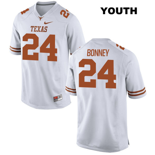 John Bonney Nike Texas Longhorns no. 24 Stitched Youth White Authentic College Football Jersey - John Bonney Jersey