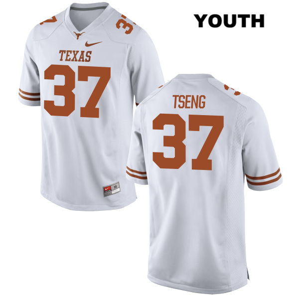 Johnny Tseng Texas Longhorns Stitched no. 37 Youth White Nike Authentic College Football Jersey - Johnny Tseng Jersey