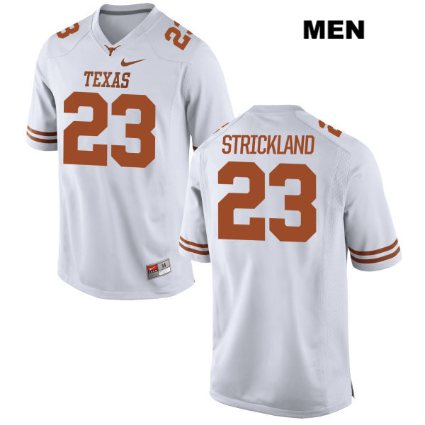 Jordan Strickland Texas Longhorns no. 23 Stitched Mens White Nike Authentic College Football Jersey