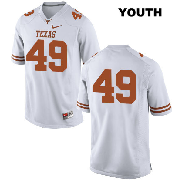 Nike Joshua Rowland Stitched Texas Longhorns no. 49 Youth White Authentic College Football Jersey - No Name - Joshua Rowland Jersey