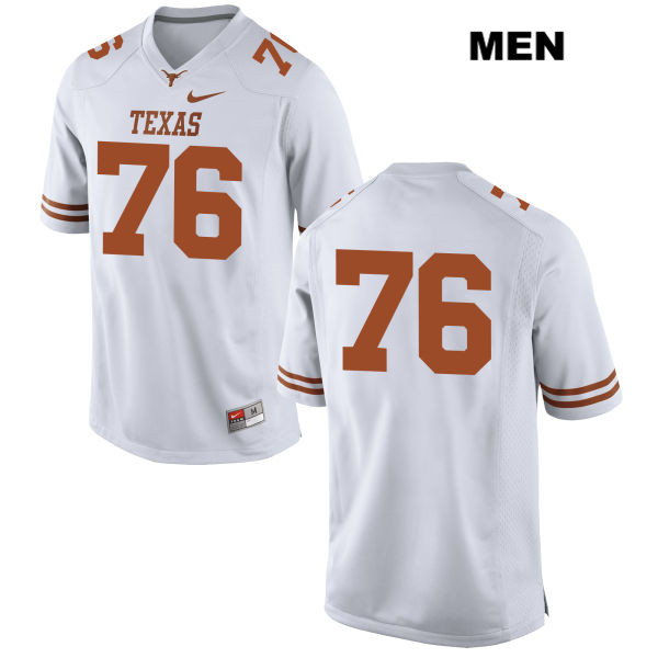 Kent Perkins Texas Longhorns no. 76 Mens White Nike Stitched Authentic College Football Jersey - No Name - Kent Perkins Jersey