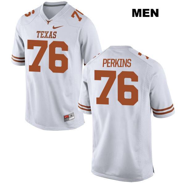 Kent Perkins Texas Longhorns Stitched Nike no. 76 Mens White Authentic College Football Jersey - Kent Perkins Jersey