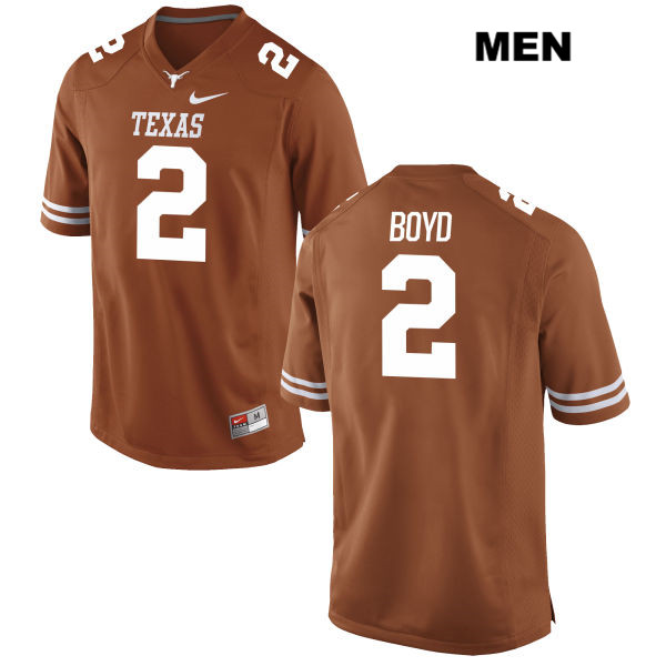 Kris Boyd Texas Longhorns Stitched no. 2 Nike Mens Orange Authentic College Football Jersey - Kris Boyd Jersey