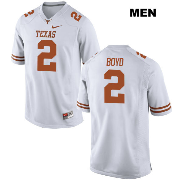 Kris Boyd Texas Longhorns no. 2 Stitched Mens Nike White Authentic College Football Jersey - Kris Boyd Jersey