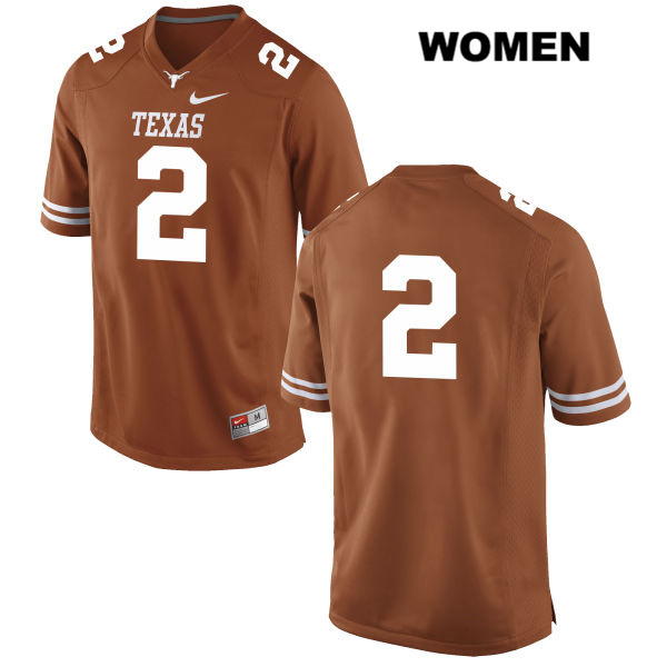 Kris Boyd Texas Longhorns no. 2 Nike Womens Orange Stitched Authentic College Football Jersey - No Name - Kris Boyd Jersey