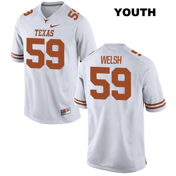 Michael Welsh Texas Longhorns no. 59 Stitched Youth Nike White Authentic College Football Jersey - Michael Welsh Jersey