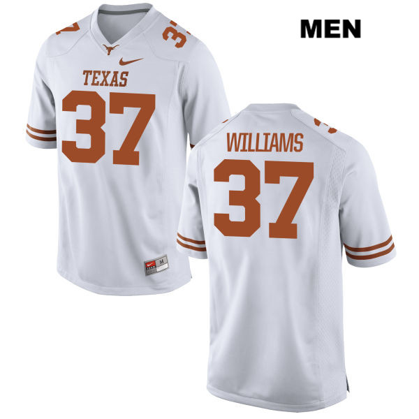 Michael Williams Texas Longhorns Stitched no. 37 Mens White Nike Authentic College Football Jersey - Michael Williams Jersey