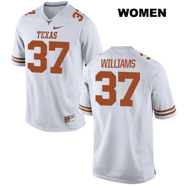 Michael Williams Texas Longhorns no. 37 Nike Womens Stitched White Authentic College Football Jersey - Michael Williams Jersey