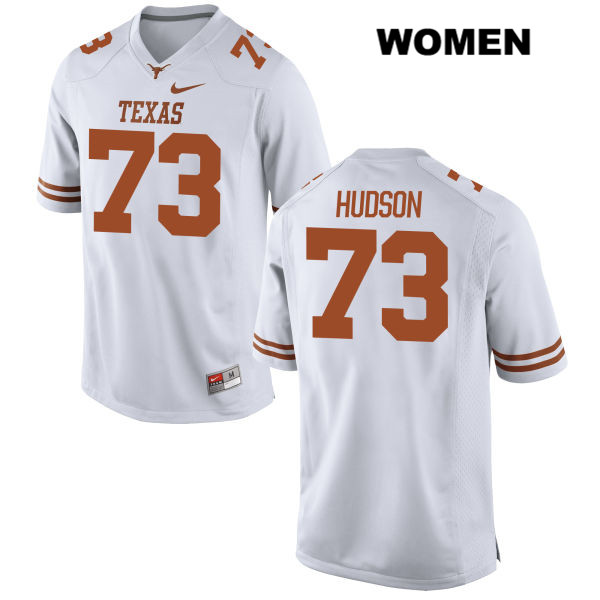 Nike Patrick Hudson Texas Longhorns Stitched no. 73 Womens White Authentic College Football Jersey - Patrick Hudson Jersey