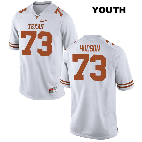 Patrick Hudson Nike Texas Longhorns no. 73 Youth Stitched White Authentic College Football Jersey - Patrick Hudson Jersey