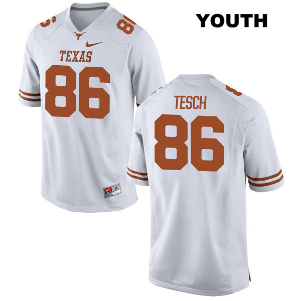 Taylor Tesch Nike Texas Longhorns no. 86 Stitched Youth White Authentic College Football Jersey - Taylor Tesch Authentic Jersey