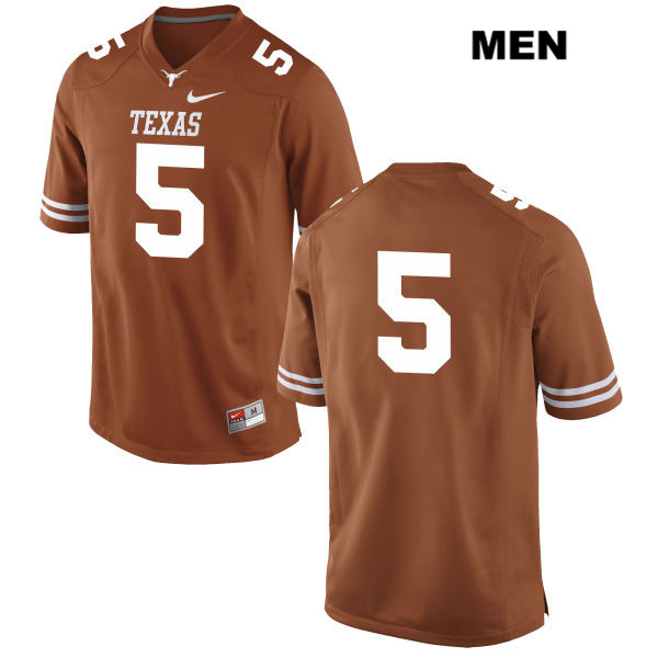 Nike Tre Watson Texas Longhorns no. 5 Mens Stitched Orange Authentic College Football Jersey - No Name - Tre Watson Jersey