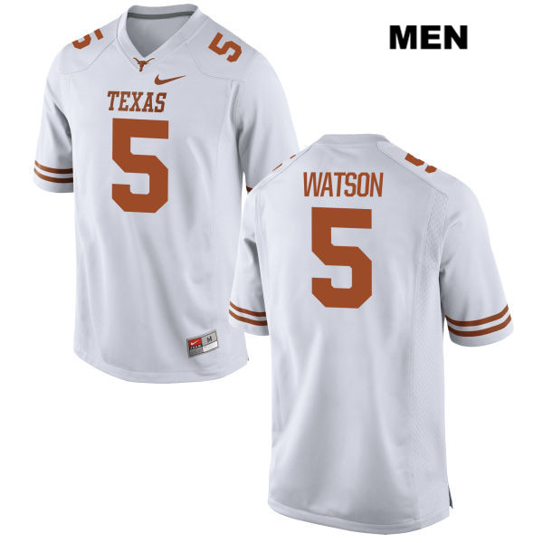 Tre Watson Texas Longhorns Nike Stitched no. 5 Mens White Authentic College Football Jersey - Tre Watson Jersey
