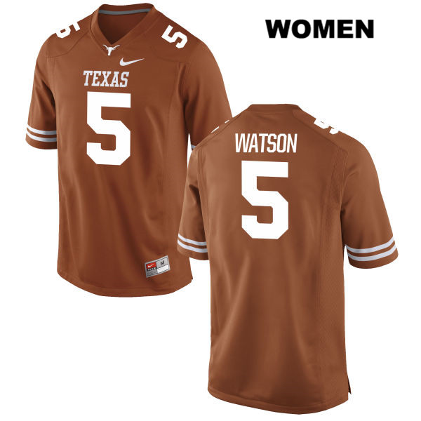 Tre Watson Texas Longhorns no. 5 Stitched Womens Nike Orange Authentic College Football Jersey - Tre Watson Jersey