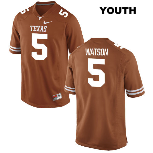 Tre Watson Nike Texas Longhorns no. 5 Stitched Youth Orange Authentic College Football Jersey - Tre Watson Jersey